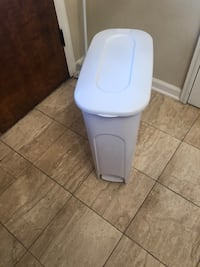 White slender kitchen trash can Fort Washington