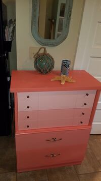 Vintage Coral Ombre Wooden Chest of Drawers Henrico, 23228