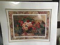 Rose garden basket bouquet print,Framing size:20x20 Toronto, M3B