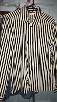 white and black striped dress shirt San Angelo, 76901