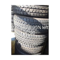four black car tires set