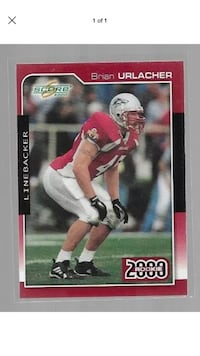 Brian Urlacher Rookie class of 2000 card drafted to the Bears,Hall of Fame Santa Fe, 87507