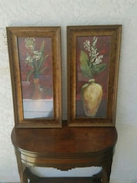 two brown wooden framed paintings Port Charlotte, 33948