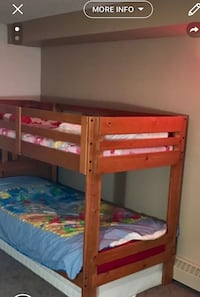 brown wooden bunk bed with mattress Edmonton, T5H 1S4