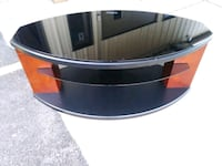 Black 3 tier tinted glass TV stand for sale ????    St. Louis, 63102