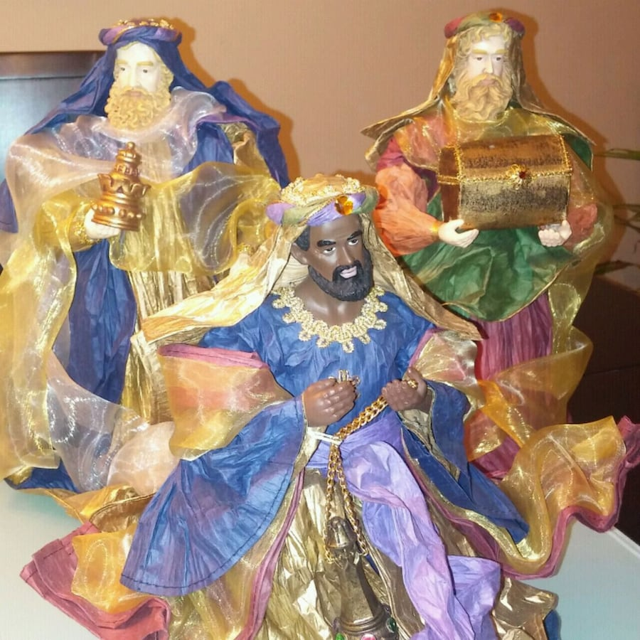 3 wise men hollow christmas decorations statues  T