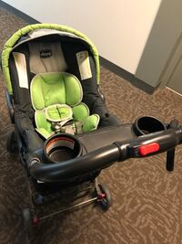 baby's green and black car seat carrier Ashburn
