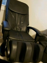 black leather padded rolling armchair 64 km