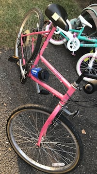 pink and black bicycle
