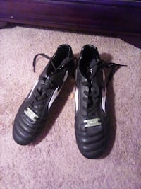 Him a soccer cleats size 7.5
