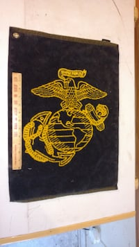 USMC Towel - Black on one side & Yellow on the other.