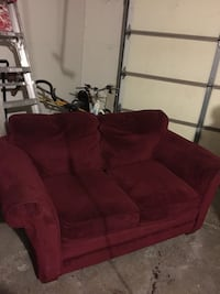 red fabric 3-seat sofa Warr Acres, 73132