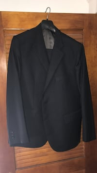 black notch lapel suit jacket Victoria, V8S 1A1