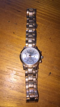 round silver chronograph watch with link bracelet Newberry, 29108