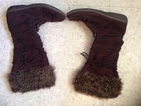 Brown fur boots. Size 9. Some wear. Have been packed in a box.  Great Falls, 59405