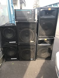 Black 8channel mix speaker systems