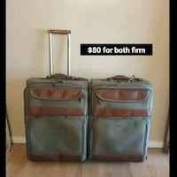 To Tommy Bahama rolling travel suitcases, $80 both Colton, 92324
