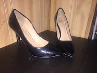 pair of black leather heeled shoes Peterborough, K9J 1X3