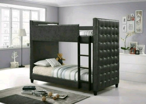 Used Twin Twin Gray Tufted Bunk Bed 40 Dn For Sale In Atlanta Letgo