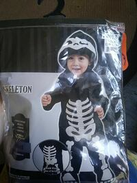 toddler's Skeleton costume with pack Calhoun, 30701