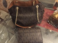 black and brown Michael Kors leather tote bag Fort Myers, 33905