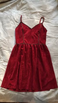 Red Suede Dress 2058 mi