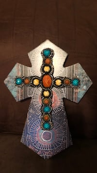 Wood Cross with beaded detail Lubbock, 79407