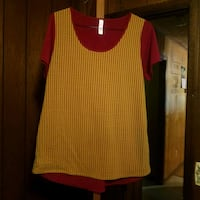 red and black scoop-neck long-sleeved shirt Blairsville, 30512