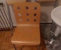 brown wooden chair with desk Montreal