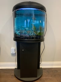 23 gallon fish tank aquarium half moon with stand and storage Vaughan, L4L 1C3