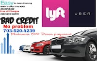 Financing for Uber and Lyft income! Woodbridge