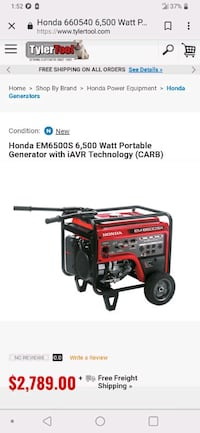 red and black Troy-Bilt portable generator Fremont, 94538
