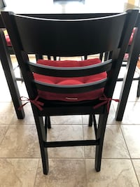 4 red seat cushions