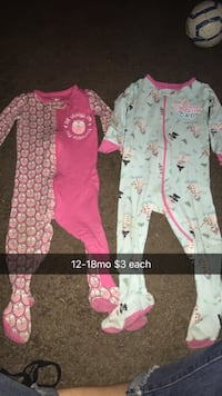 Assorted baby girl clothes