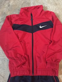 Red & blue nike track suit