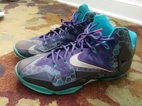 pair of purple and light blue LeBrons  Washington