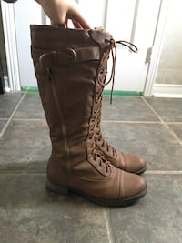 Aldo lace up  tall boots size 7.5