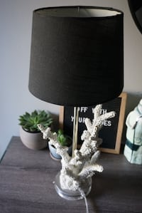 Modern brass (gold) and coral table lamp Seattle, 98199