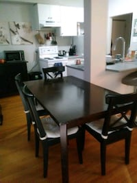 Solid wood table and 4 chairs New Westminster