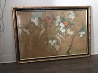 Vintage framed Chinese painting print measuring approximate 48x30 inches New York, 10026