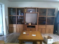 brown wooden cabinet with hutch Dewey, 86327