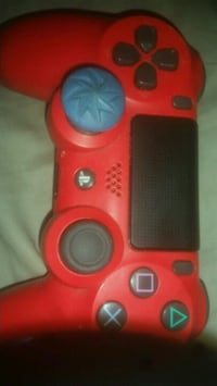 red and black Sony PS4 controller 373 mi