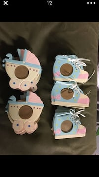 23 baby shower favors or Welcome Baby picture frames. NEW