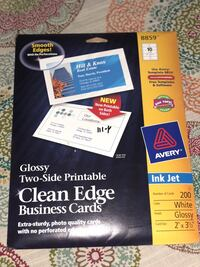 Two-Side Printable Clean Edge Business Cards