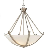 Home Decorators Collection  3-Light Brushed Nickel Foyer Pendant Ashburn