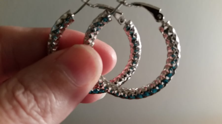 Stainless Steel Hoop style earrings 93514354-a89d-40b5-bed7-fdc9bcc3af0a