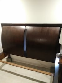 black and gray wooden headboard null