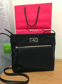 "Brand New Authentic Kate Spade Crossbody bag / Black / nylon/ 9.9""h x 11.5""w x 2.5""d Edmonton, T5E 2T3"