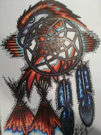 gray and multicolored eagle theme dream catcher decor Calgary, T3E 2X4