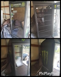 black and gray commercial refrigerator Fall River, 02721